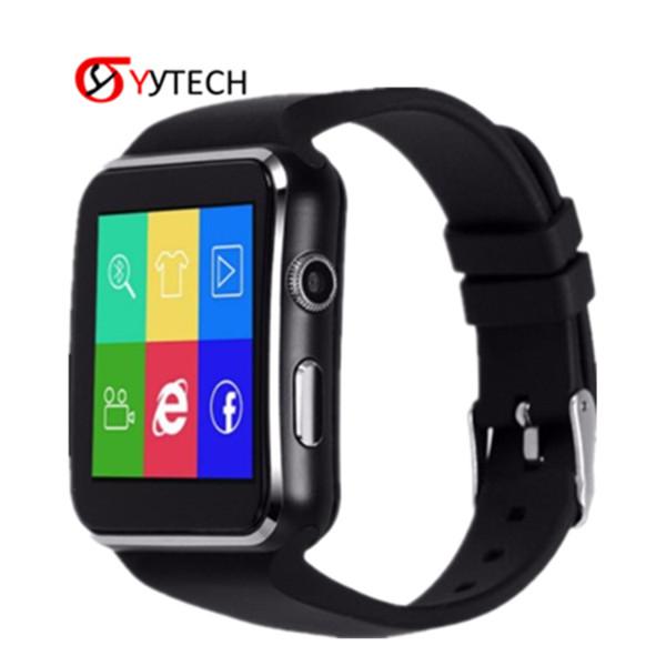 SYYTECH Nuovo Bluetooth X6 Smart Watch Remote Camera Support SIM Card TF Monitoraggio del sonno Braccialetto sportivo intelligente