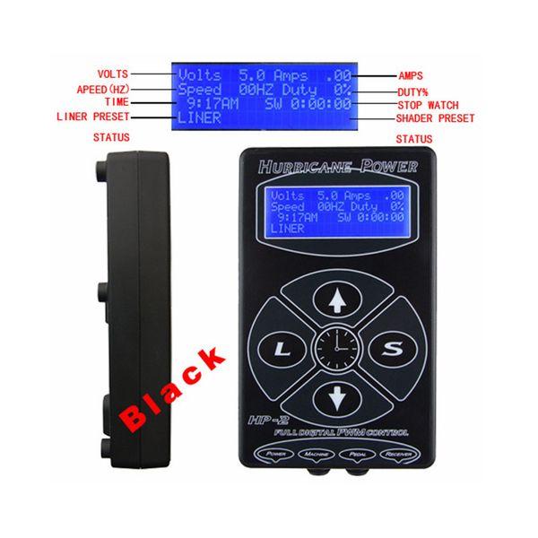 Venta caliente Profesional HP-2 Hurricane Tattoo fuente de alimentación Digital Dual LCD Display Tattoo Power Supply Machines envío gratis
