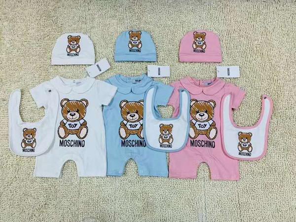 Baby Kids Designer Abiti Pagliaccetto Estate Manica corta Pagliaccetto Abiti 100% cotone Ragazza Pagliaccetti per bambini 3-18 Mesi Tuta neonato
