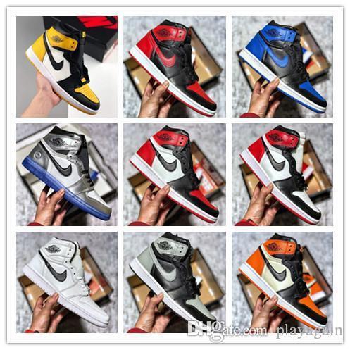 Aair 6 JORDANIE 1 2019 Hommes 1 OG Top Hommes Chaussures de basket OG Sneakers canard mandarin Formateurs Hommes rétro sport Chaussures de sport Chaussures 0 88