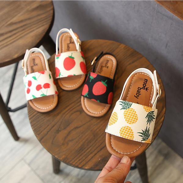 Scarpe per bambini, sandali per bambini, scarpe da principessa, bambini estivi, fondo morbido, bambina, rete da spiaggia, ragazza rossa fragola