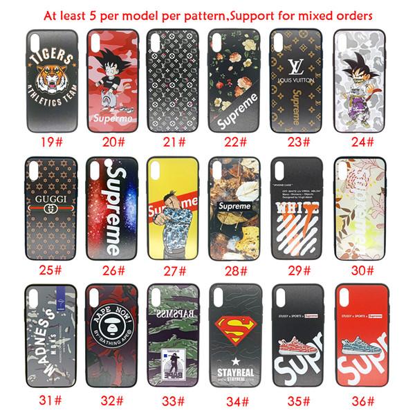Para Iphone Xs Max X Xr Caja del teléfono Marca de moda Variedad Venta caliente para Apple 7 8 Plus TPU PC cajas del teléfono celular