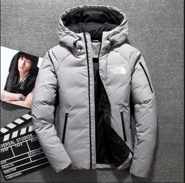 2019 YENİ Yüksek Kalite Kış Erkekler Down Ceket Ceket Boş Marka Aşağı Ceket Sıcak Kayak Erkekler Coat yüzü 1805