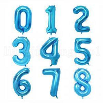 Número azul aleatório