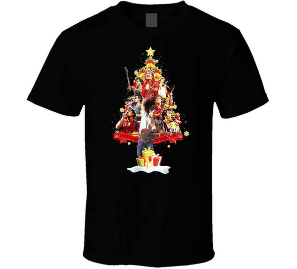 Bruce Springsteen Christmas.Bruce Springsteen Christmas Tree Mens T Shirt S 4xl N569 Funny Tshirt Metal T Shirts From Ansmile 10 17 Dhgate Com