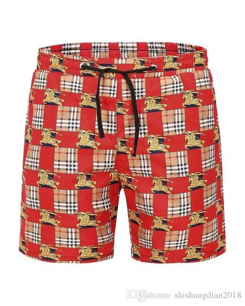 2019 estate nuovo elenco di abbigliamento di qualità pantaloncini da uomo M in bianco e nero stampato pantaloni da spiaggia M-3XL B3886