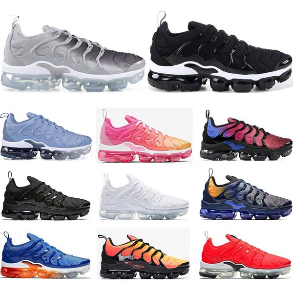 Running shoes for mens Breathable PURE PLATINUM Rainbow USA work bule Pink Sea Volt white black women sports sneaker trainer size 36-45