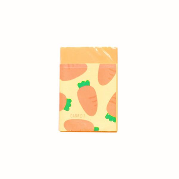 Cubo Cenoura Borracha Vegetal Dos Desenhos Animados de Modelagem Papelaria Estudante One piece Mini Portátil Quatro Tipos De Embalagens De Plástico