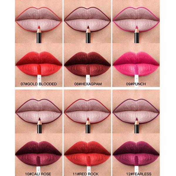 36 Color Waterproof Long-lasting Lip Gloss Sexy Red Lip Tint Nude Matte Velvet Glossy Liner Brauty Make Up Lipstick Set