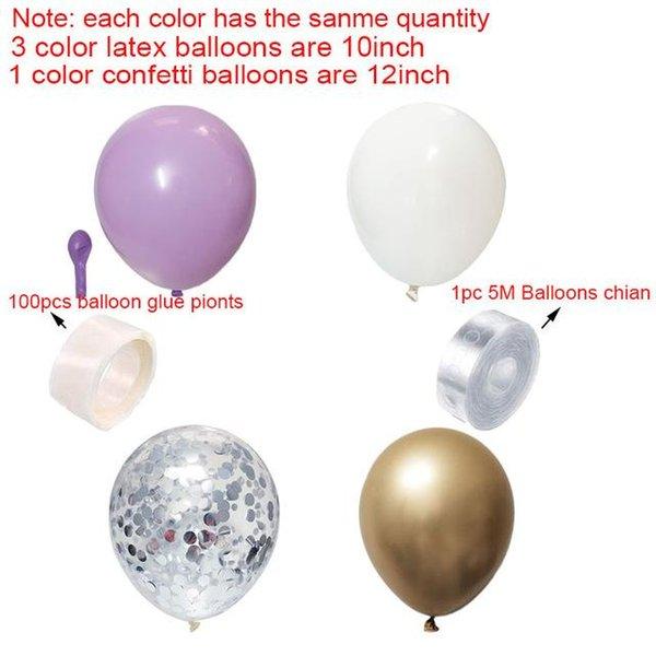 фиолетовый набор серебра