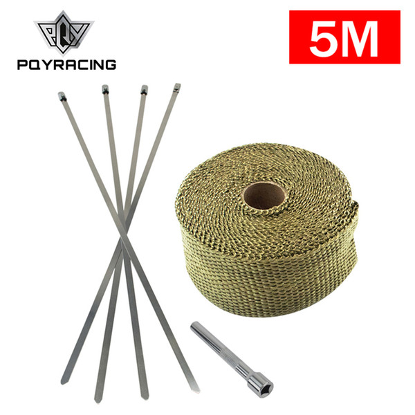 Exhaust Heat Wrap >> 5m Premium Exhaust Heat Wrap Manifold Wrap Titanium Lava Fiber Ties Stainless Steel Locking Tie Tightening Tool Pqy 1905t Ltt01 Heat Shield For