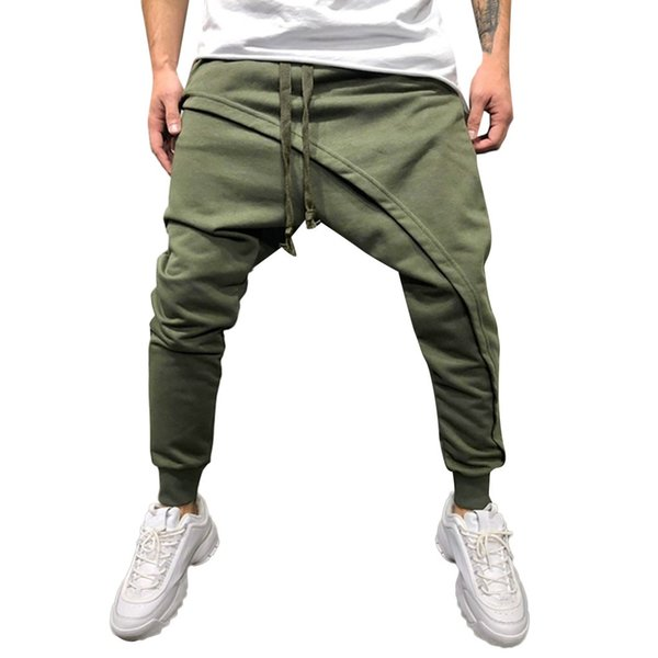 Womail Men Stylish and comfortable Mens Spring Winter Joggers Solid Patchwork Drawstring Sweatpants Trouser Pants M300116