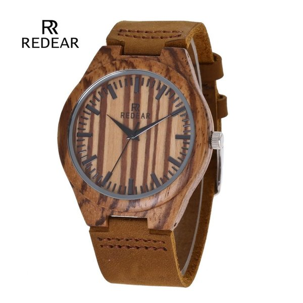 Dropshipping Fashion 45MM Big Dial Ladies Zebra Wood Watch Casual Men's and Women's Quartz Wooden Watch for mens gifts relogio