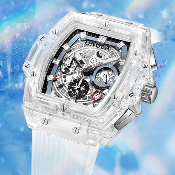 2019 nuovo ONOLA marca moda trasparente orologio uomo donna orologio da polso in plastica luce sport casual unico quarzo top mens di lusso orologi