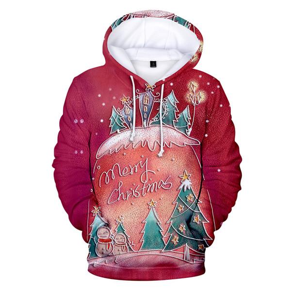 skr Christmas 3D Teenager Hoodies Men Women Fashion Xmas Tree Printed Gift Sweatshirts