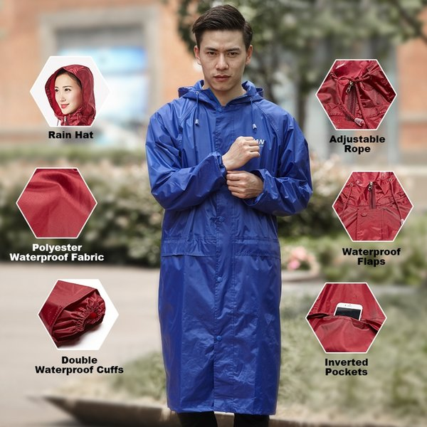 QIAN Impermeable Impermeable Mujeres / Hombres Impermeable Gabardina Poncho Capa de Lluvia de Doble capa Mujeres Ropa Impermeable Lluvia Gear Poncho # 319339
