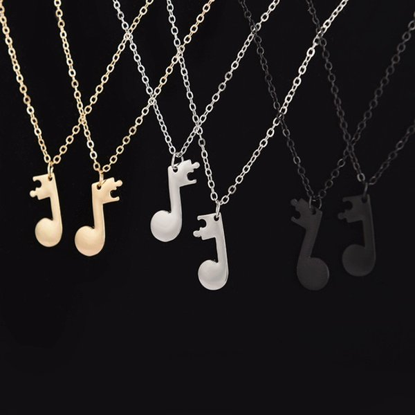 Fashion Men And Women Clavicle Necklace Musical Note Shaped Necklaces Pure Colors Metal Alloy Jewelry Hot Sale 2 3qw BB