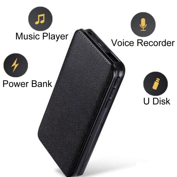 Magnetic Password Protect Voice Activated Recorder Professional Multi function Power Bank Digital Audio Sound Recording Device