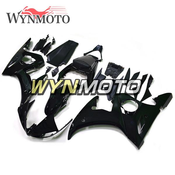 Carenados negros completos de la motocicleta para los kits de la motocicleta de la inyección del plástico ABS de Yamaha YZF 600 R6 2003 2004 ABS cubiertas de los carenados