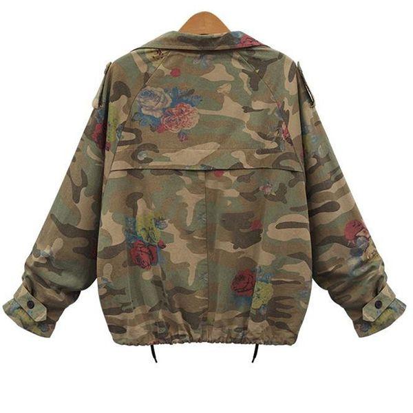 Fashion - Giacca mimetica da donna Desert Camouflage Coat Utility Outdoor Coat