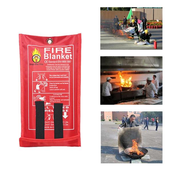 Cobertor de fogo De Fibra De Vidro de Emergência Repressão Chama Retardante Cobertor Sobrevivência Cobertura de Segurança para Casa Têxtil Cozinha Sala de estar