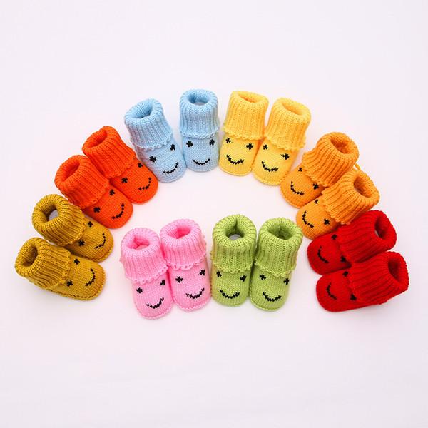 Toptan Yenidoğan Bebek İşi Tasarımcı Ayakkabı Milt-Renk Erkek Kız Yumuşak Örgü Rahat Ayakkabılar Toddler Ilk Yürüyüşe Sıcak Satış Moda