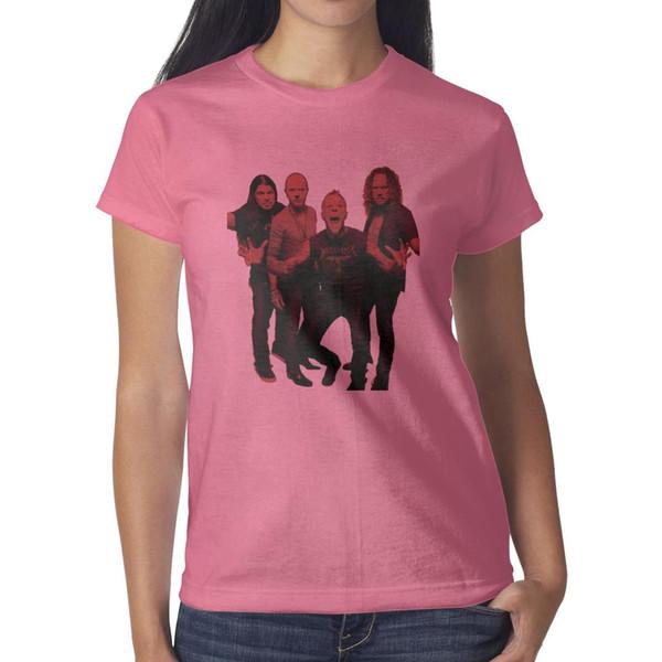 Amerikan ağır metal grubu Metallica pembe bayan t gömlek, gömlek, t shirt, tişörtlerin gömlek tasarım serin t süper kahraman arkadaşlar atletik t gömlek