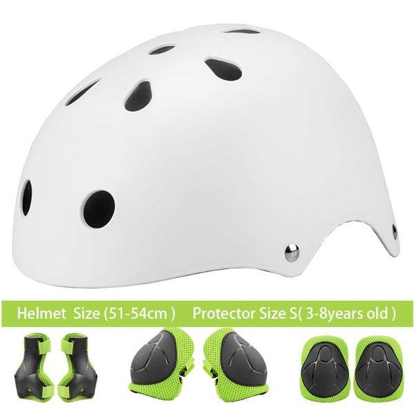 Blanco Conjunto verde