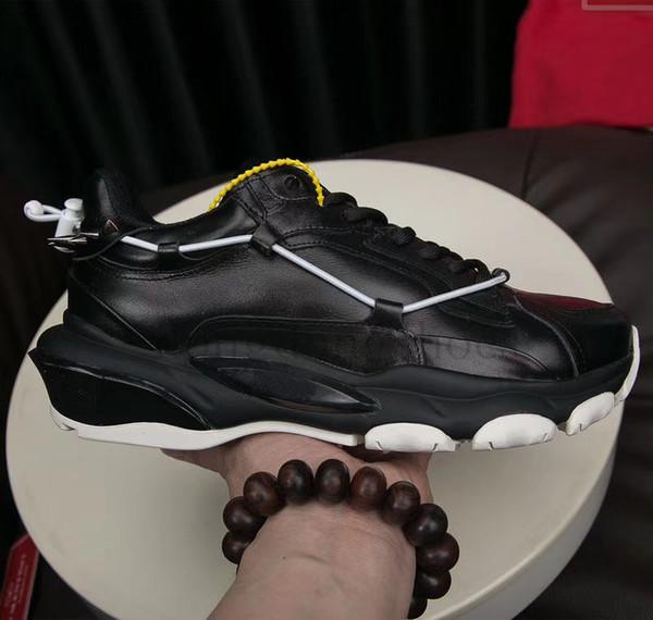 2020 Chain Reaction Designer Shoes de luxe Hommes Femmes Chaussures Noir Blanc femmes de mode en cuir formateurs chaussures 34-46