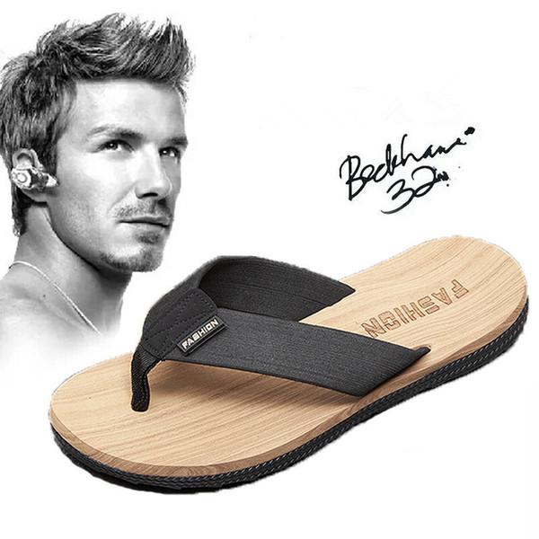Moda YENI Sandalet Erkek Ayakkabı Lüks Yaz Çevirme Moda Geniş Düz Kaygan Sandalet Terlik boyutu 39-45