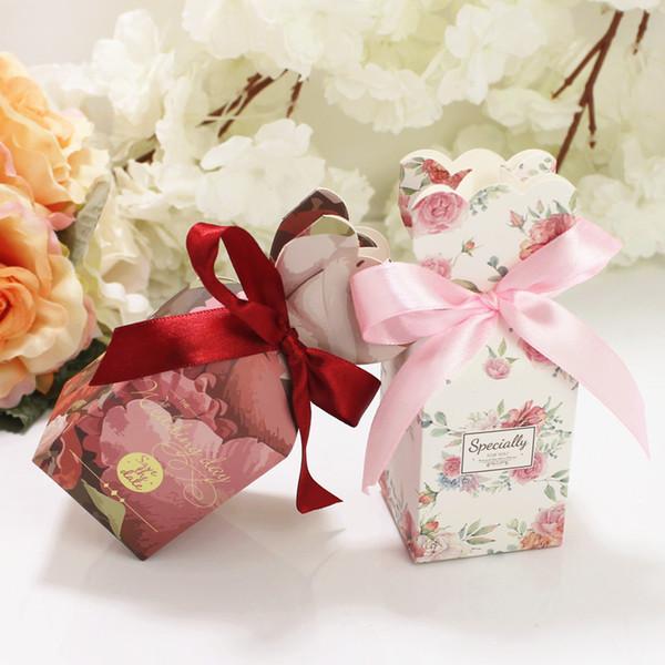 Petal Favor Gift Package 5 Дизайн Свадьба День Рождения DIY Мыло Конфеты Подарочная Упаковочная Бумага Крафт-Бумага Подарочная Коробка Сумки 50 Шт