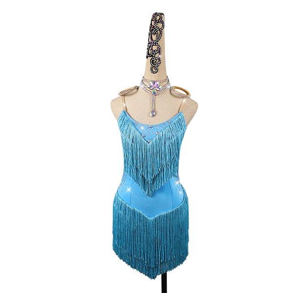 만 호수 블루 드레스