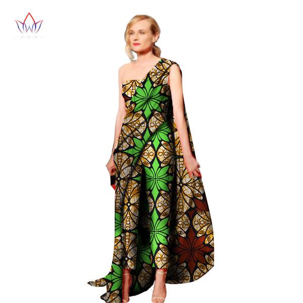 2018 New Fashion Africa Cotton Wax Print Romper African Bazin Riche Sexy Jumpsuit For Women Dashiki Elegant Jumpsuit WY1992