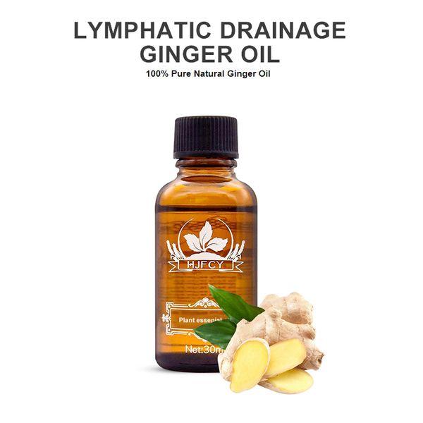 100% Pure linfatico naturale Drenaggio organico Ginger oli essenziali, i benefici per Massaggio corpo Massaggi Cura della pelle Relax Fragrance Oil 30mL