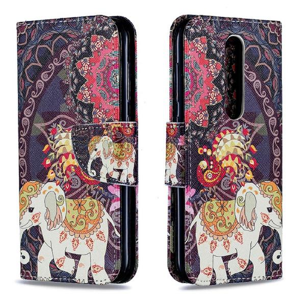 Para NOKIA4.2 2019 Diseño de soporte Estilo de billetera Funda de cuero coloreada Cubierta del bolso del teléfono Con la caja del teléfono y el titular de la tarjeta B059
