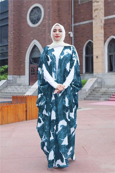 abito musulmano stampato farfalla abbigliamento islamico bangladesh hijab turco islamico abito islamico ramadan vestito turco