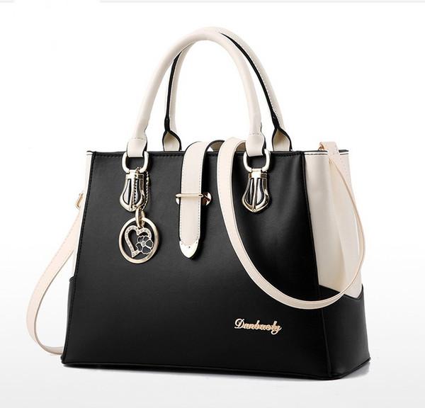 New Design Fashion Flamboyance Two-tone Style Casual Tote Handbags Sweet Lady Shoulder bag Women's High Quality Handbag Bag Purses