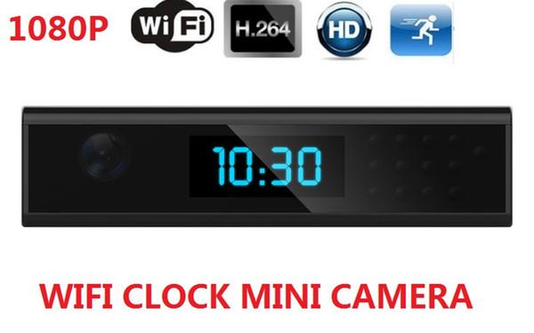 Wifi uzaktan mini Saat kamera HD 1080 p çalar saat video kamera desteği IR gece görüş ev güvenlik gözetleme Dadı Kam
