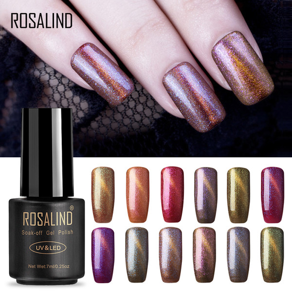ROSALIND Brand Cat Eye Gel Nail Polish vernis semi permanent UV Nail Art For a Manicure gel primer Top Coat Varnish
