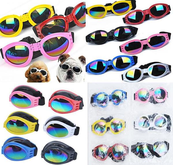 top popular Dog Glasses Fashion Foldable Sunglasses Medium Large Dog Glasses Big Pet Waterproof Eyewear Protection Goggles UV Sunglasses dc570 2020