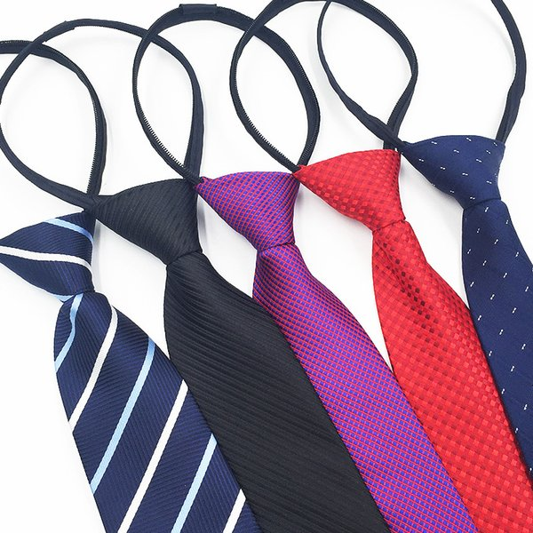 Laço dos homens 8 CM preguiçoso zíper gravata Fácil puxar vestido de Negócios de trabalho Por Atacado personalizado personalizado