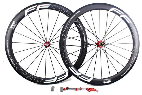 Carbon bike wheels 50mm FFWD F5R white line letter basalt brake surface clincher tubular road cycling bicycle wheelset width 25mm UD matt