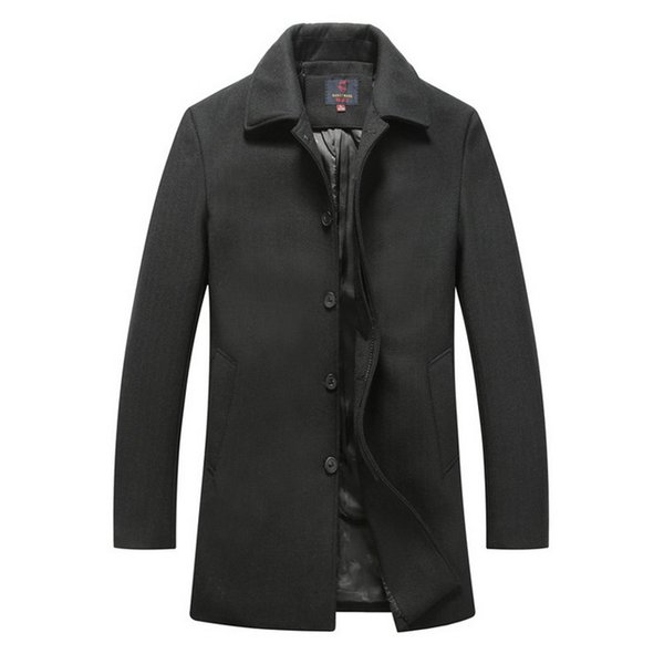 New Winter Men Casual Jacket Overcoat woolen cloth Coats Warm Wool Blends Slim Fit Jackets Fashion cashmere coat Plus Size