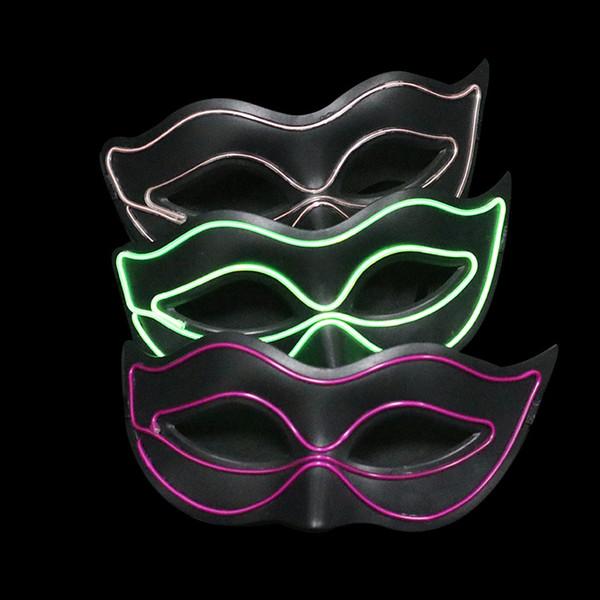 Новые светодиодные накаливания Halloween mask Dance Party светодиодные накаливая маска для мальчиков и девочек