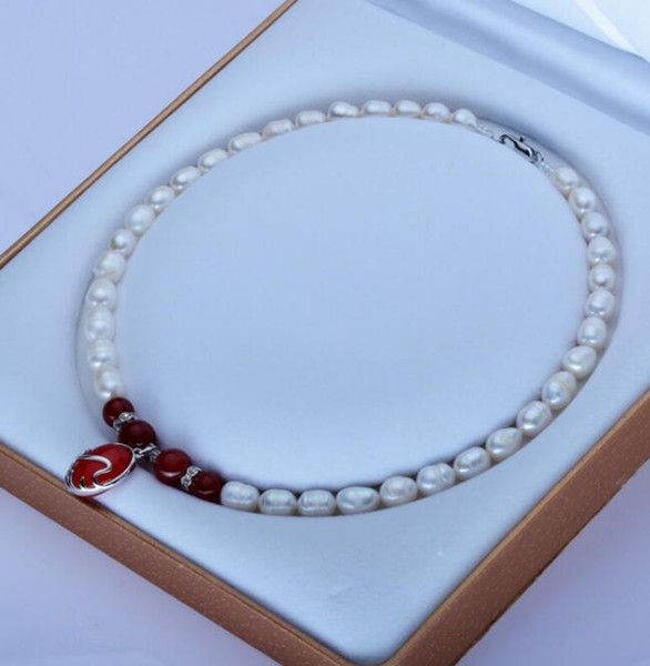 FREE SHIPPING + 8-9mm meters shape pearl necklace manufacturers wholesale direct sales