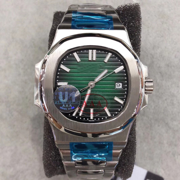 U1 New Style Automatic Movement Green Dial Glass Back Men Watch 316 Stainless Band Male Watch Free Shipping
