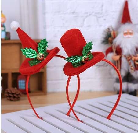 Decorazioni natalizie per la casa Calda fascia natalizia SantaXmas Party Decor Doppia fascia per capelli Chiusura a capo Cerchio Decorazione natalizia