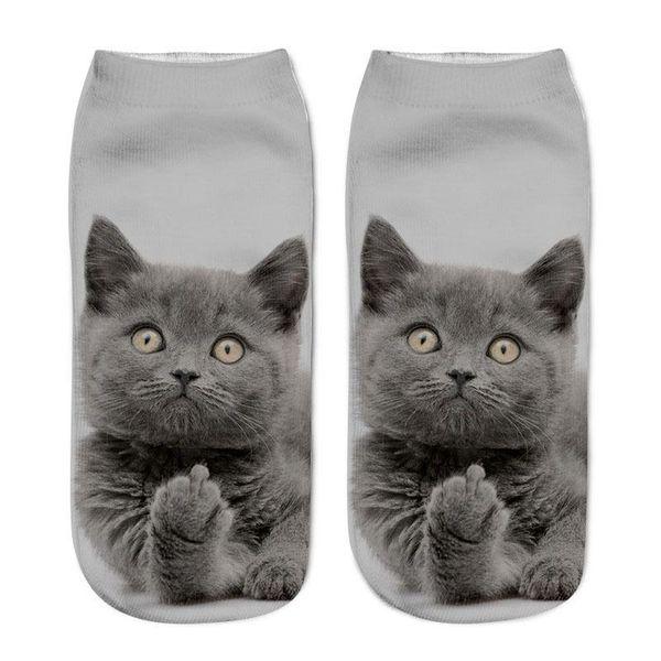 Womens Personal Designer Socks 3D Cat Print Cartoon Cute Style Underwear Female Clothing Fashion Casual Apparel