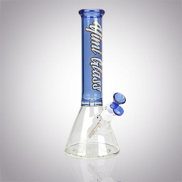 """YimiGlass 11.8"""" Glass Beaker 18mm Female Joint 14mm Glass Bowl Glass Beaker Bong Water Pipe Dab Rigs"""