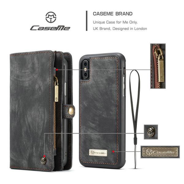 Für iPhone 11 Pro Case [Zipper Purse] [Hinterbauständer Feature] Luxus PU-Leder-Mappen-Schlag-magnetische Abdeckung mit [Card Slots] [Anmerkung Taschen]